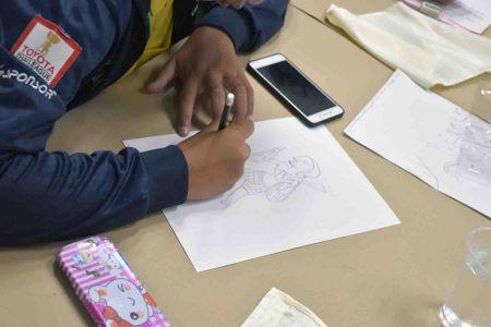สถาบันฯ อบรมเชิงปฏิบัติการ การถ่ายทอดความรู้การวาดภาพจิตรกรรมฝาผนังบนผ้าไหม